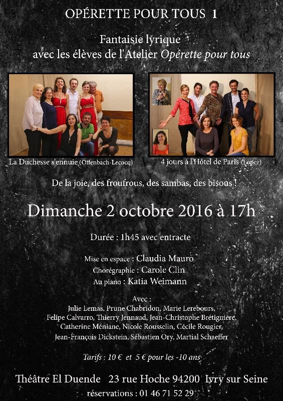 La duchesse s'ennuie (Offenbach-Lecocq)